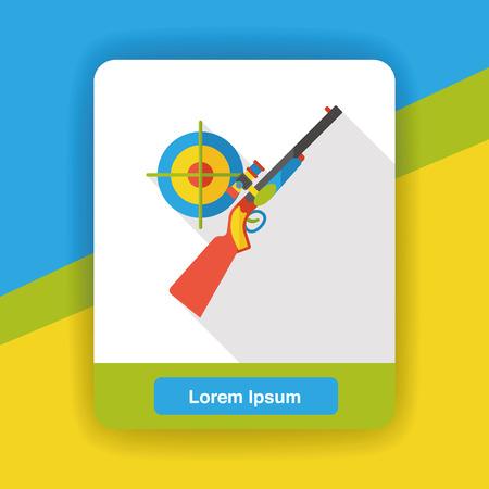 revolver: Gun target flat icon