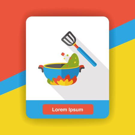 food: dinner food flat icon Illustration