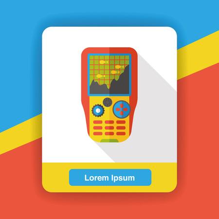 telephony: radar machine flat icon