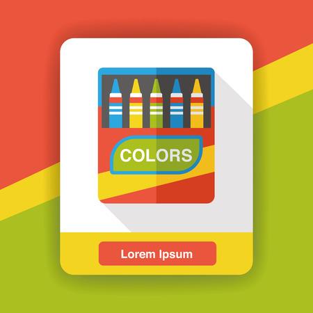 crayon: crayon paint flat icon