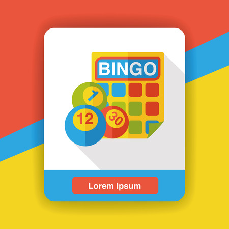 bingo ball flat icon