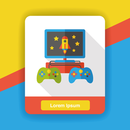 playstation: video game flat icon