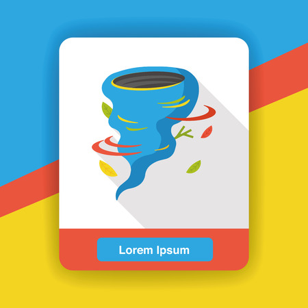 hurricane disaster: weather tornado flat icon Illustration