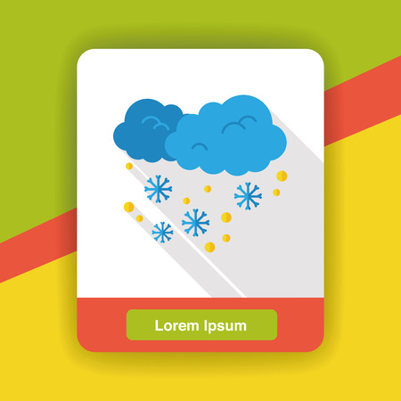 snowy: weather snowy flat icon Illustration