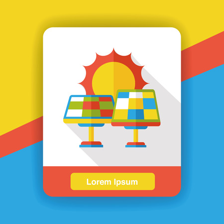 panels: solar panels flat icon Illustration