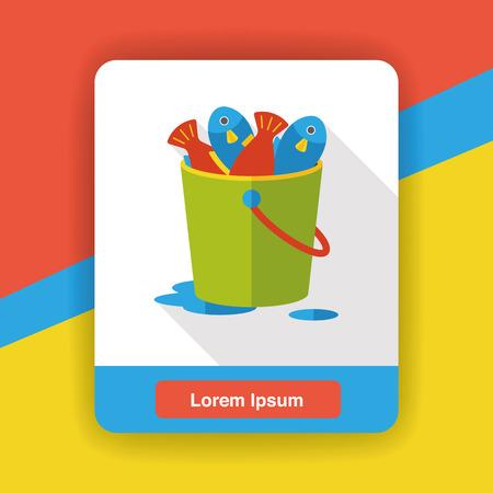 tackle box: fishing box flat icon