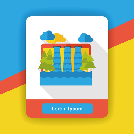 reservoir: water reservoir flat icon Illustration