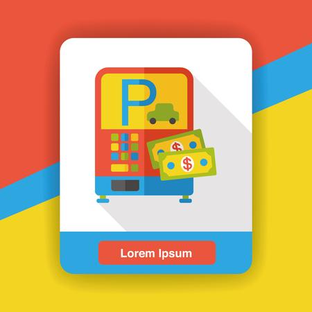 meters: Parking meters flat icon