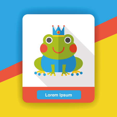 froggy: fairy tale frog flat icon