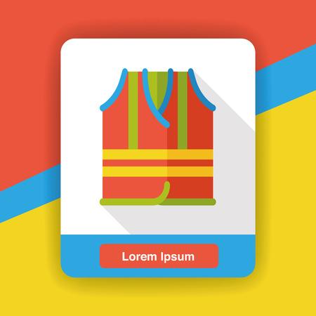life jackets: safety vest flat icon