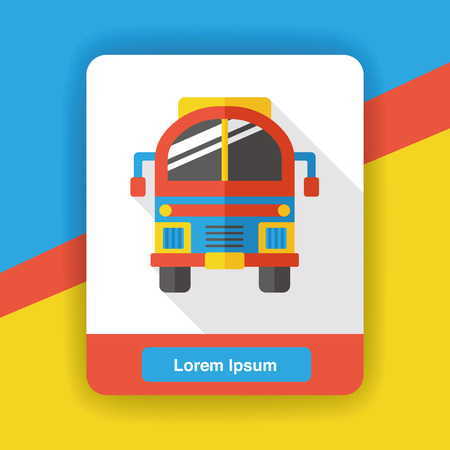 yellow schoolbus: school bus flat icon