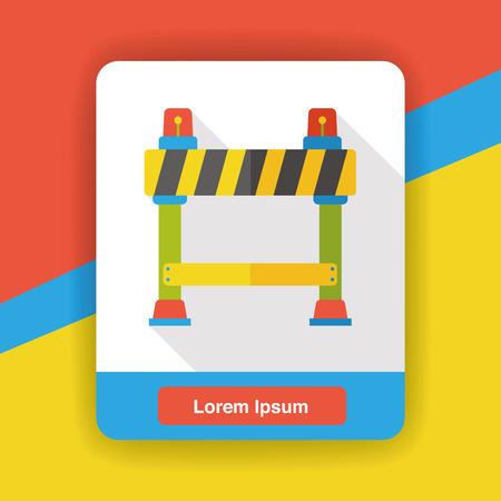 barrier: Roadblocks barrier flat icon