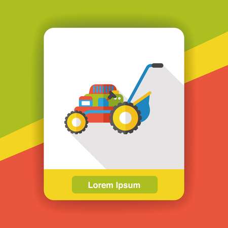 push mower: Lawn mower flat icon