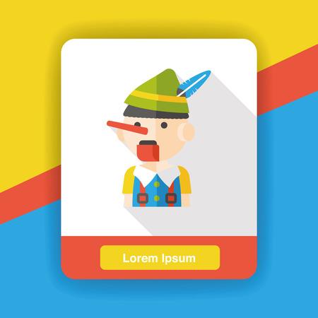 cartone animato fantoccio icona piatta