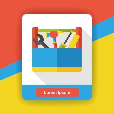 toolbox: tool box flat icon Illustration