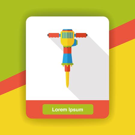 drill: tool drill flat icon