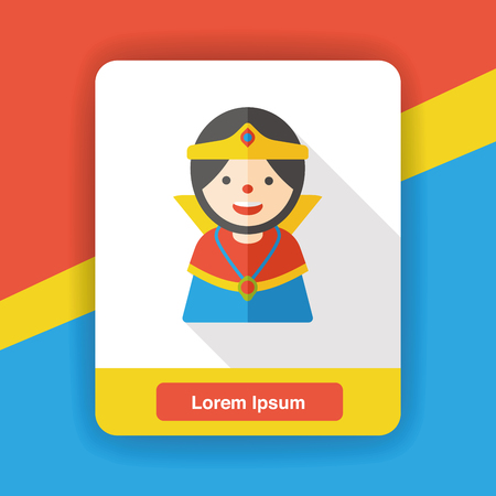 majesty: cartoon queen flat icon Illustration