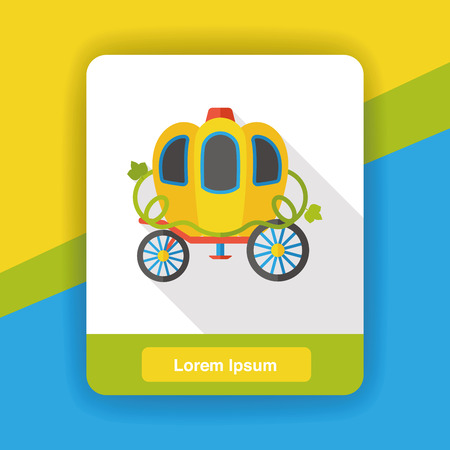 fable: fairy tale carriage flat icon
