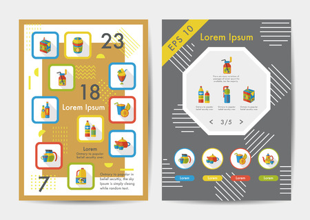spirituous: Drinks icons set with long shadow,eps10