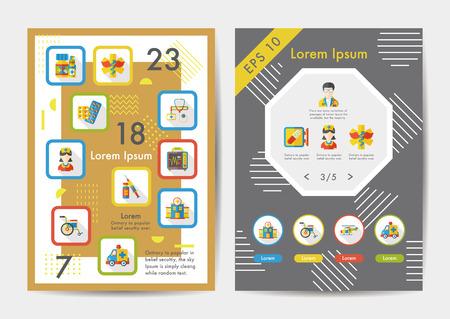 Hospital icons set with long shadow,eps10 向量圖像