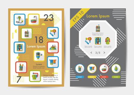 sanitary engineering: Sanitary icons set with long shadow,eps10