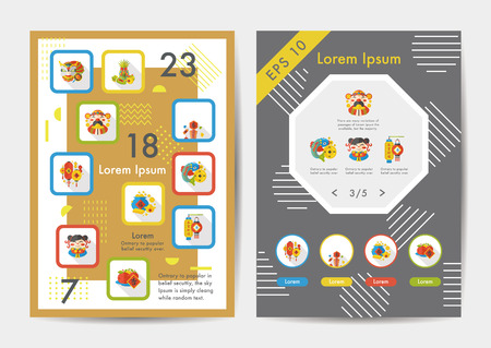 fortuna: Chinese New Year icons set with long shadow,eps10 Illustration