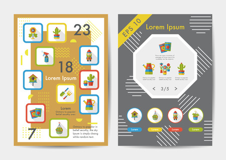 weeder: Gardening icons set with long shadow,eps10 Illustration