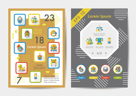 bootees: Baby icons set with long shadow,eps10
