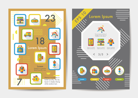 shopping icons: Shopping icons set with long shadow,eps10 Illustration