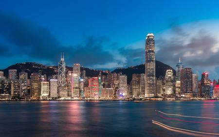 Hong Kong Victoria Harbor day and night