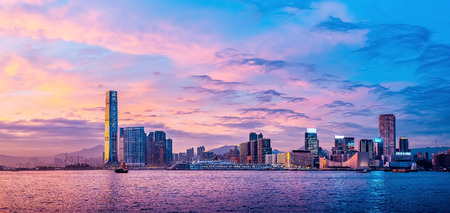 Hong Kong Victoria Harbor day and night