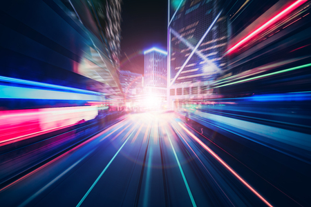 Motion speed  illustration effect with city in background Standard-Bild - 104358992