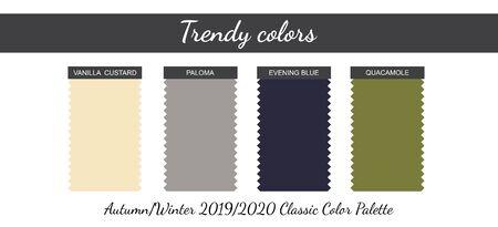 Classical neutral colors palette. Autumn Winter 2019 2020. Vector illustration.
