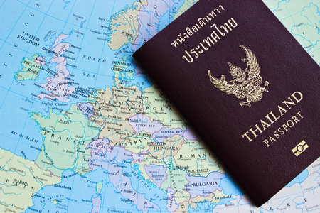 customs official: Thailand Passport on the Map