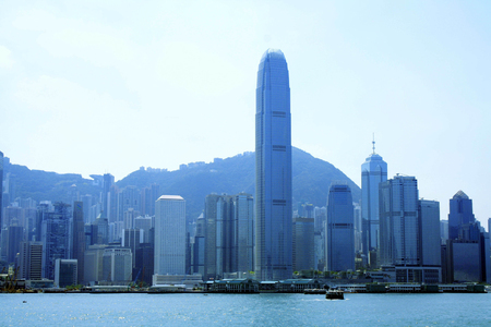 high rise buildings: Landscape view with high rise buildings in the city
