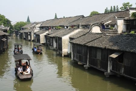 Landscape view of river in Wuzhen
