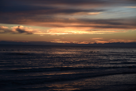 Sunrise landscape view at the seaside