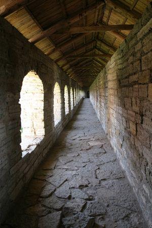 medioevo: Oreshek castello, il Medio Evo rovine, la Russia, vicino a San Pietroburgo
