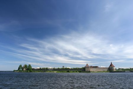 middle ages: Oreshek castle, Middle Ages ruins, Russia, near Saint-Petersburg Stock Photo