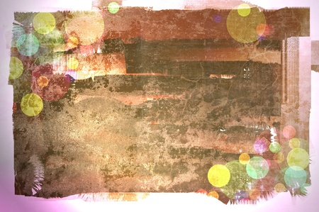 Grunge background with border
