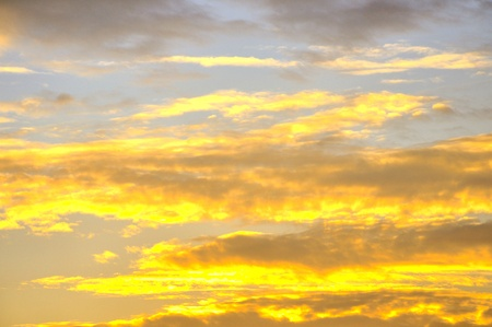 Clouds in sky at sunset background