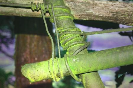 colored backgound: Oxidized iron tubes