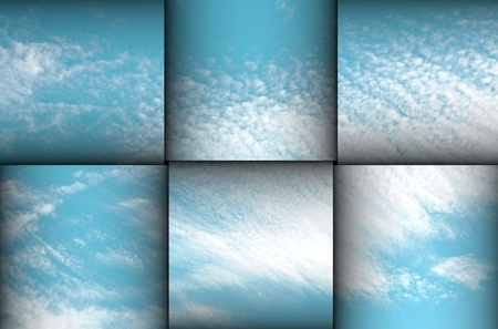 Clouds in sky on layers