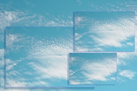 Clouds in sky on layers background