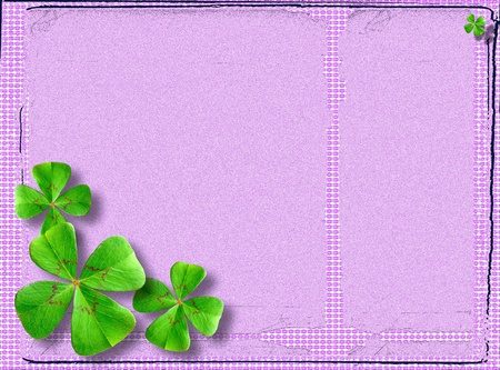 Four-leaf clover postcard Stock Photo - 11234983