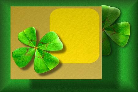 Four-leaf clover postcard Stock Photo - 11234981