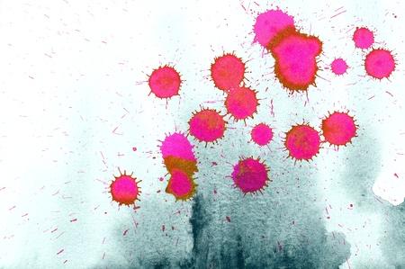sprinkling: Red ink splash on paper