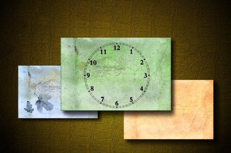 Grunge background with clock face