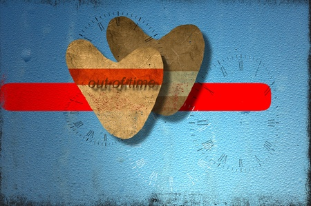Pair of paper hearts. Love concept. photo