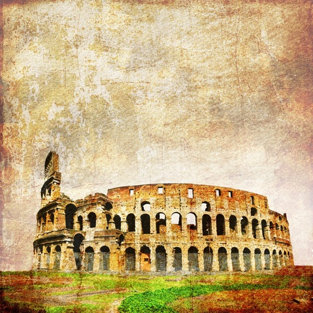 Vintage image of roman Colosseum  Rome, Italy
